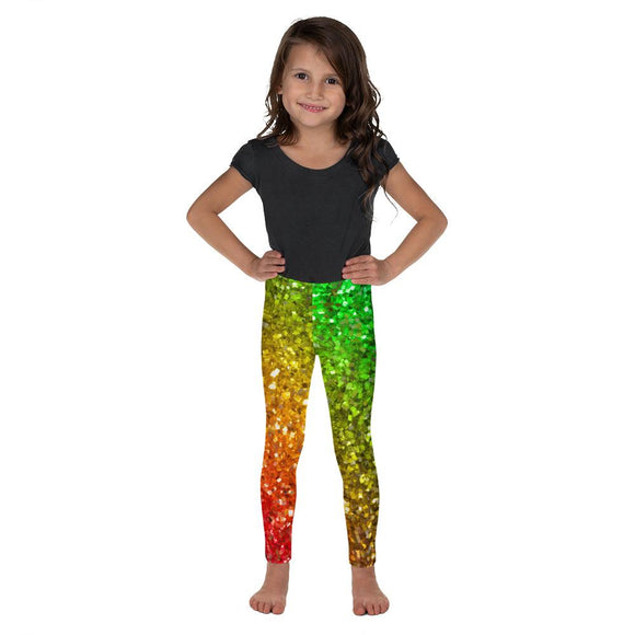 Rainbow Frequency Glitter Kids' Leggings