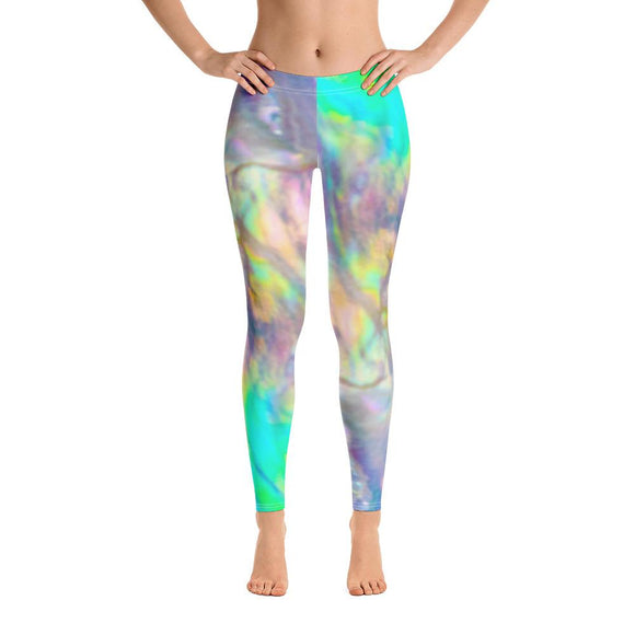 Pastel Abalone Wave Leggings