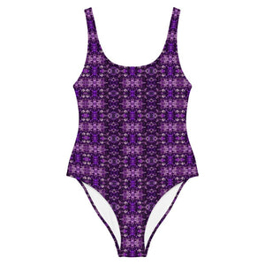 Amethyst Facets One-Piece Swimsuit