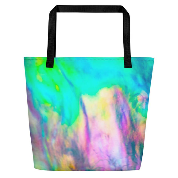 Pastel Abalone Wave Large Shopper