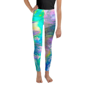 Pastel Abalone Wave Youth Leggings