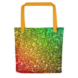 Rainbow Frequency Glitter Tote