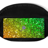 Rainbow Frequency Glitter Belt Bag
