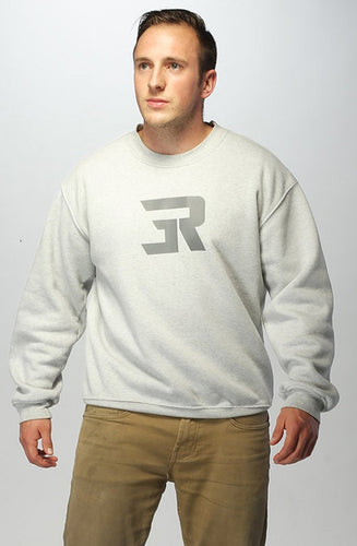 3Run Light Grey Training Sweatshirt - 3run Clothing | Parkour | Free Running | Tricking | Acrobatics