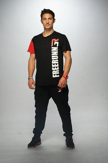 Black & Red FreeRunner tee - 3run Clothing | Parkour | Free Running | Tricking | Acrobatics