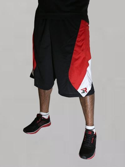 3Run Shorts Black & Red - 3run Clothing | Parkour | Free Running | Tricking | Acrobatics