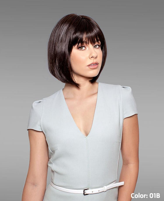 111 Paige Mono-Top Machine Back Wig - Human Hair Wig
