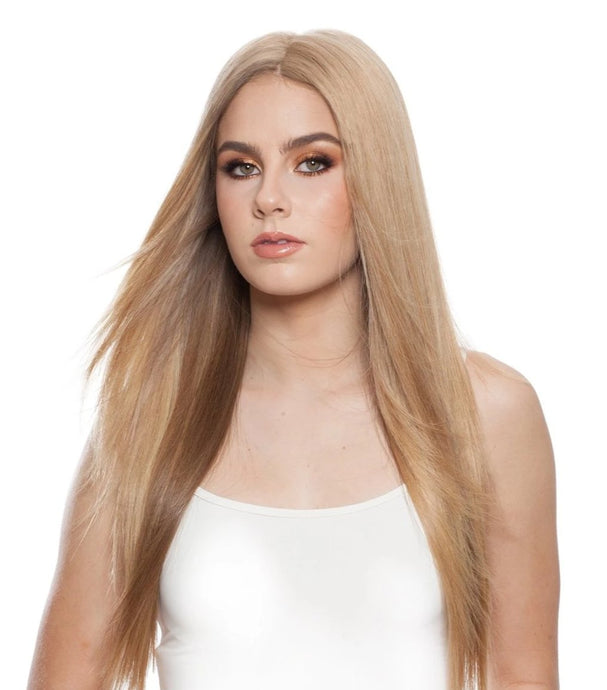 301T F-Top Blend LT: Hand Tied Human Hair Piece
