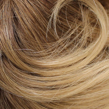 02-7 - Root 6, 8, 33 /16 Medium Chestnut Brown, Light Chestnut Brown, Dark Auburn Root, the rest is Dark Golden Ash Blonde
