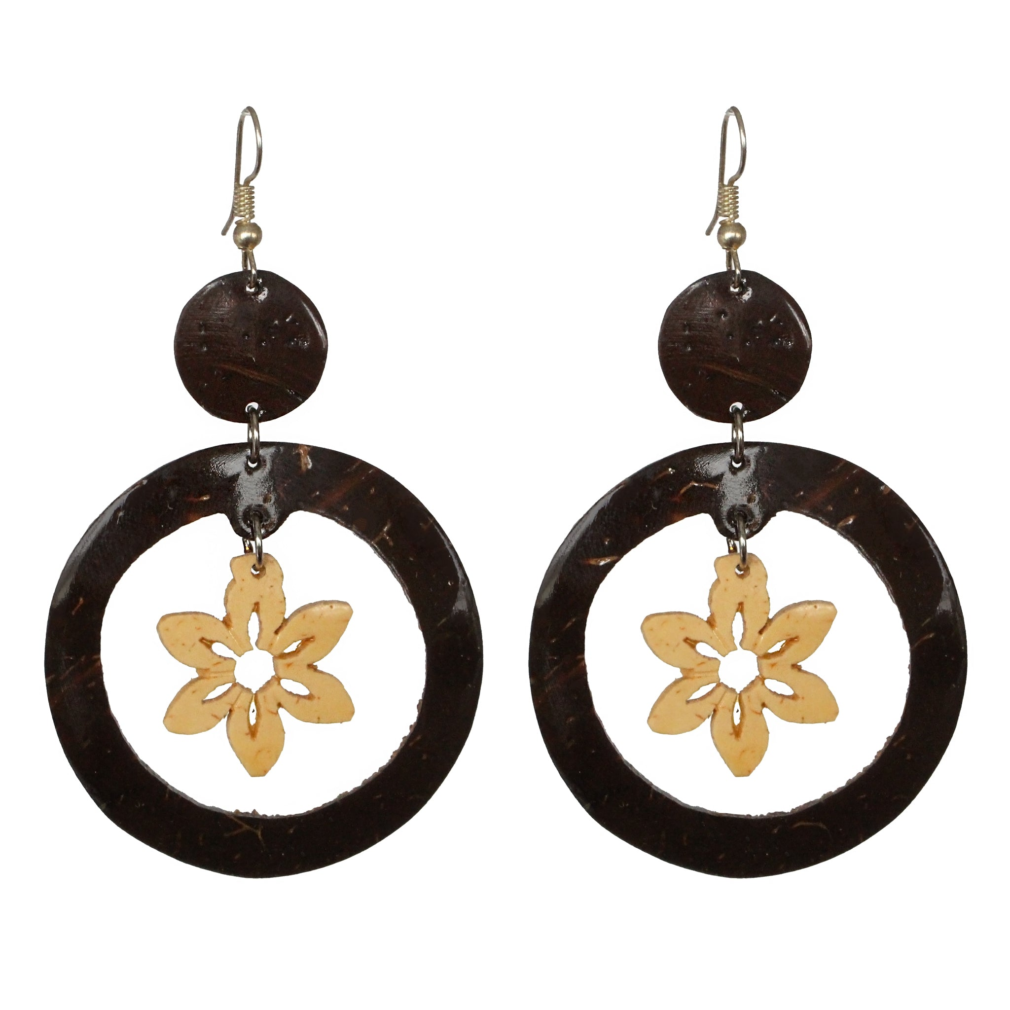 Coconut Earrings - Dangle Flower