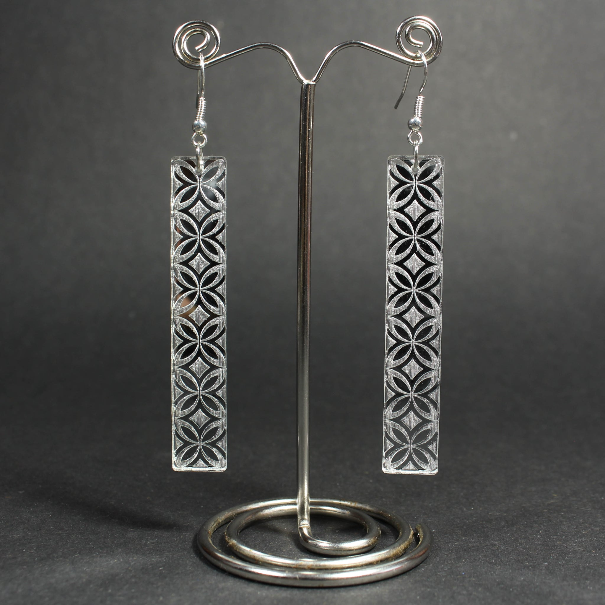 Samoan Flower Reflective Earrings