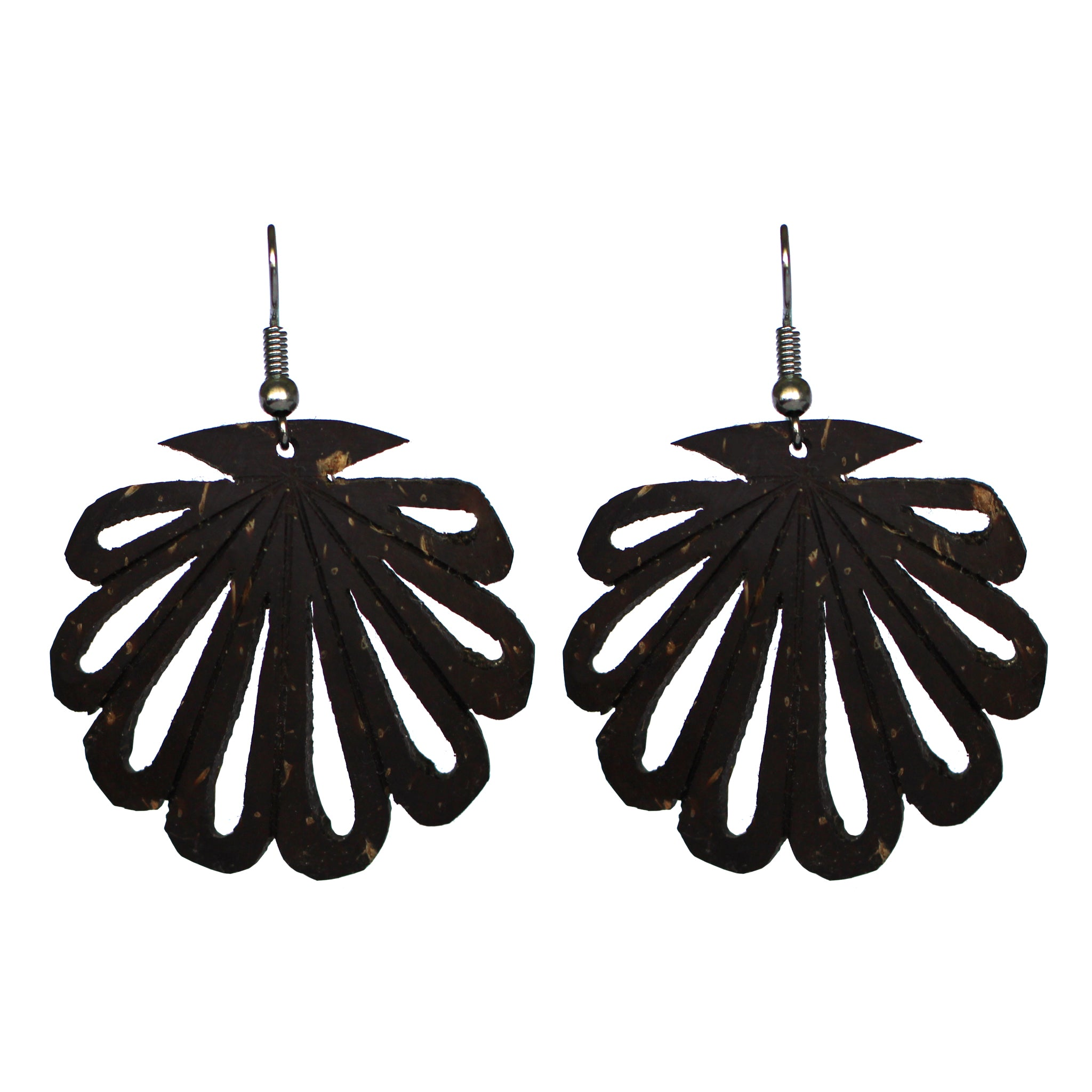 Coconut Earrings - Clam Cutout
