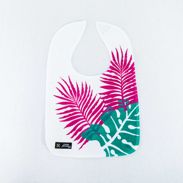 "Baby Bib ""Tropical Leaves"""