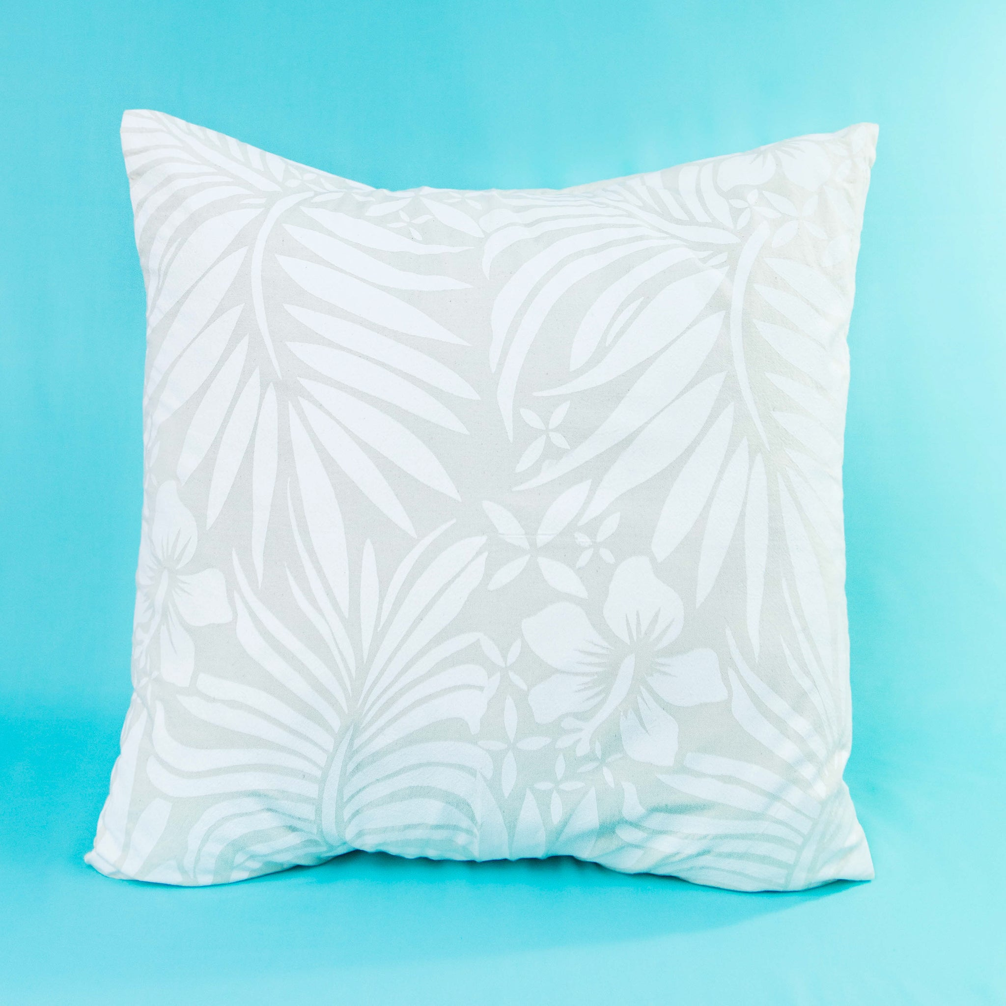 "Cushion Cover ""Hibiscus & Leaves"""