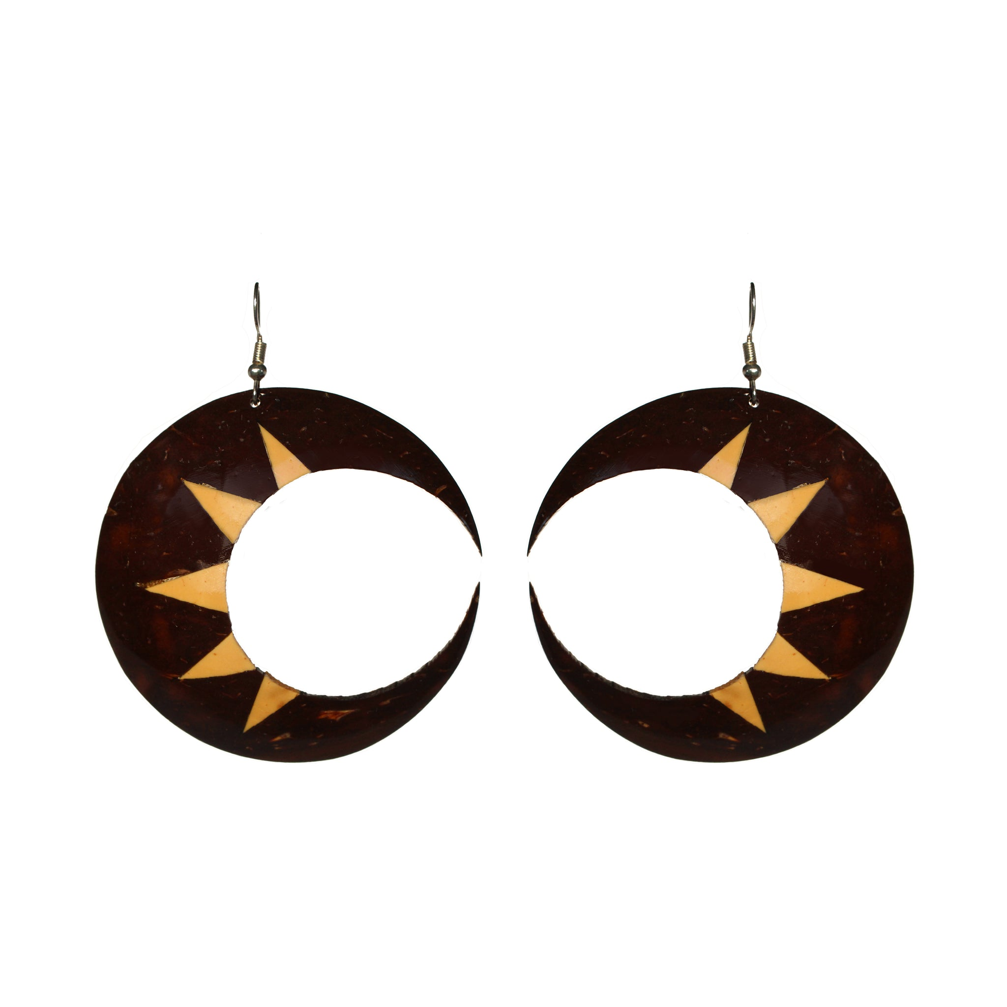 Coconut Earrings - Crescent