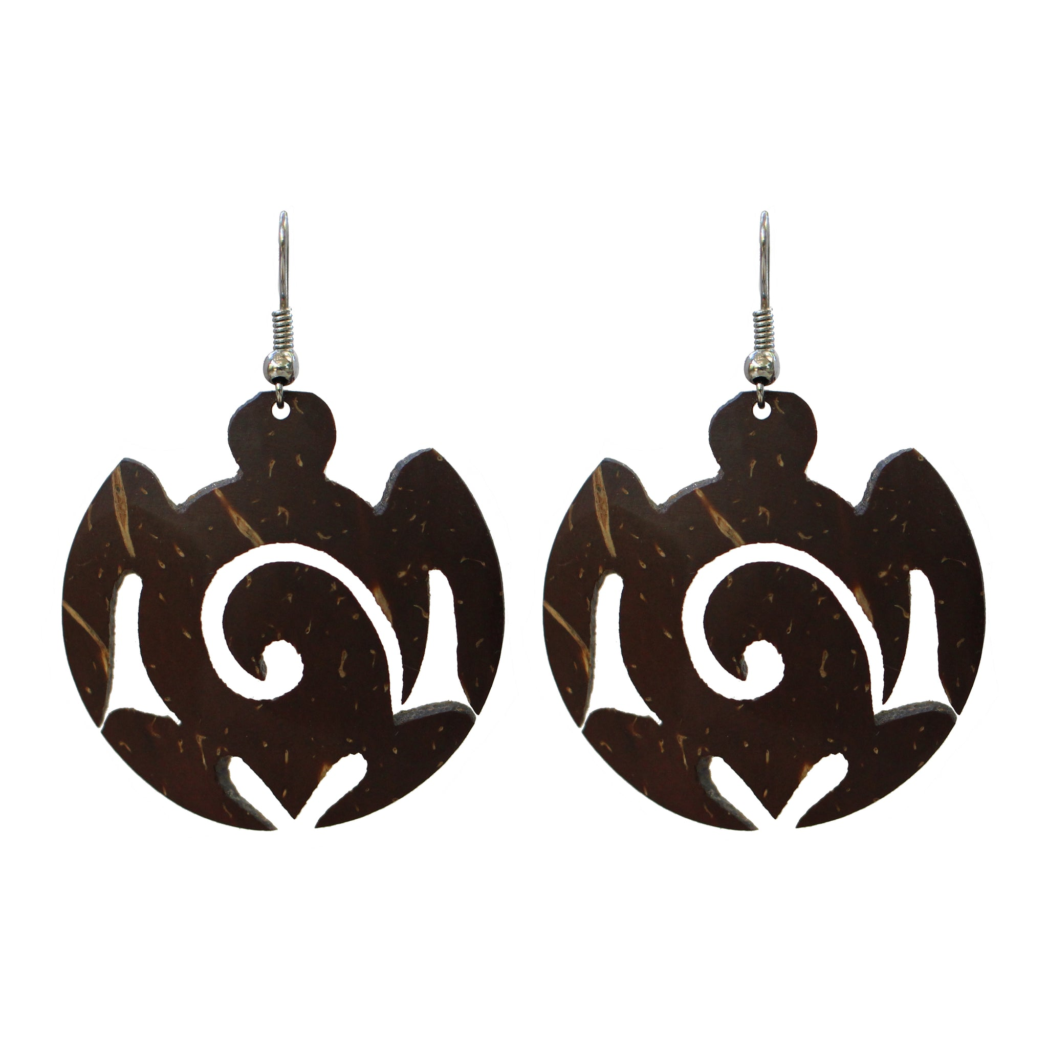 Coconut Earrings - Turtle