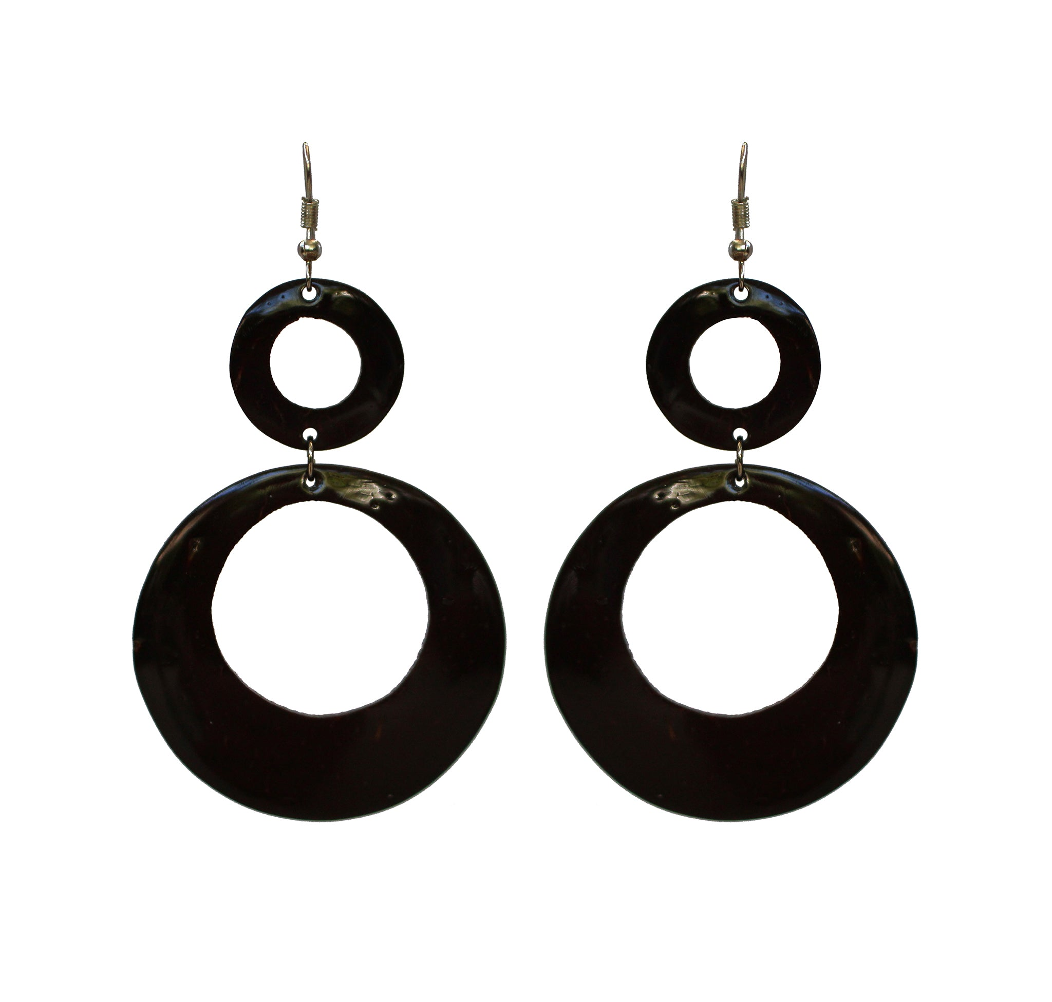 Coconut Earrings - Double Tier Circle