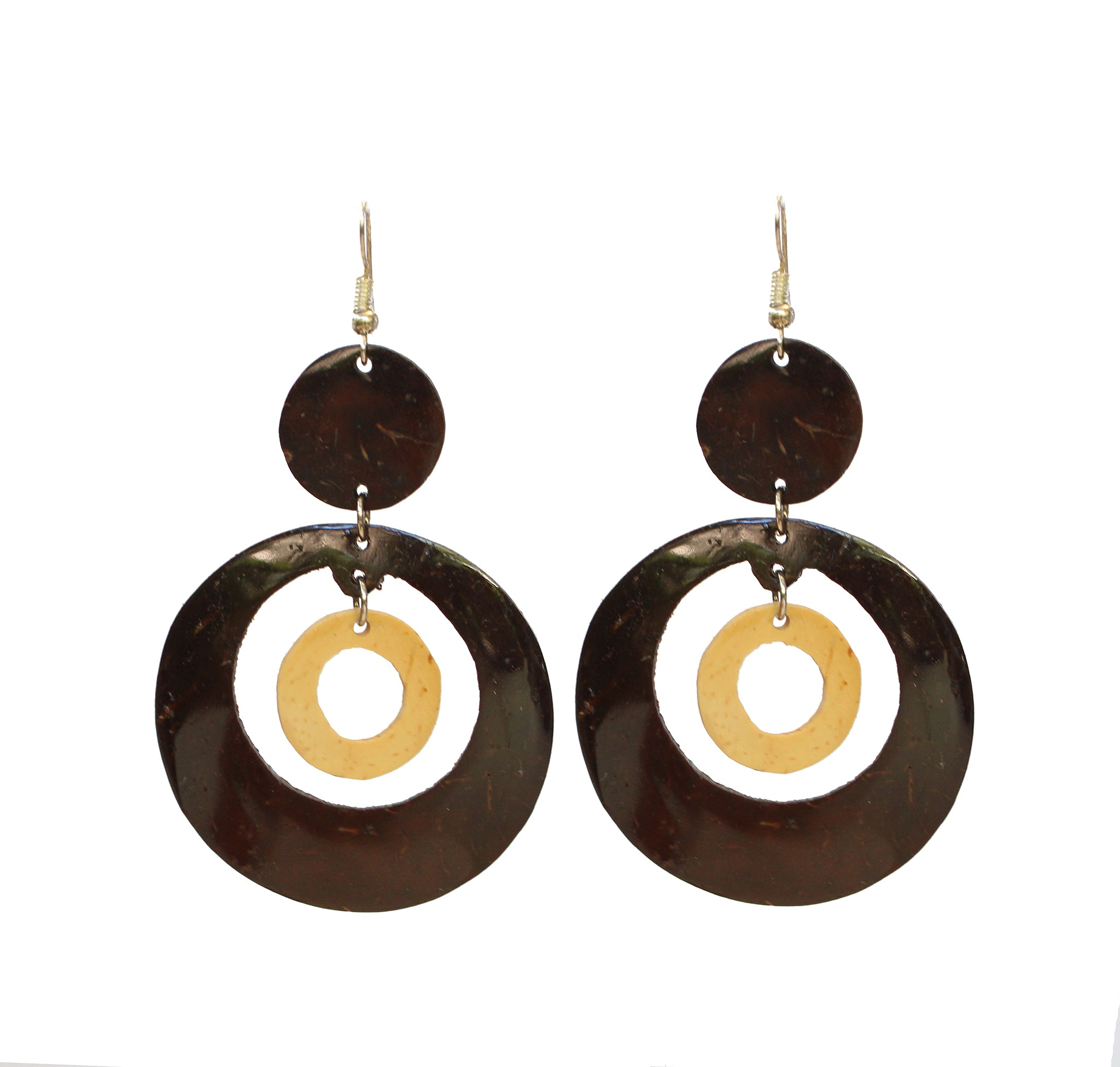 Coconut Earrings - Dangle Inner Circle