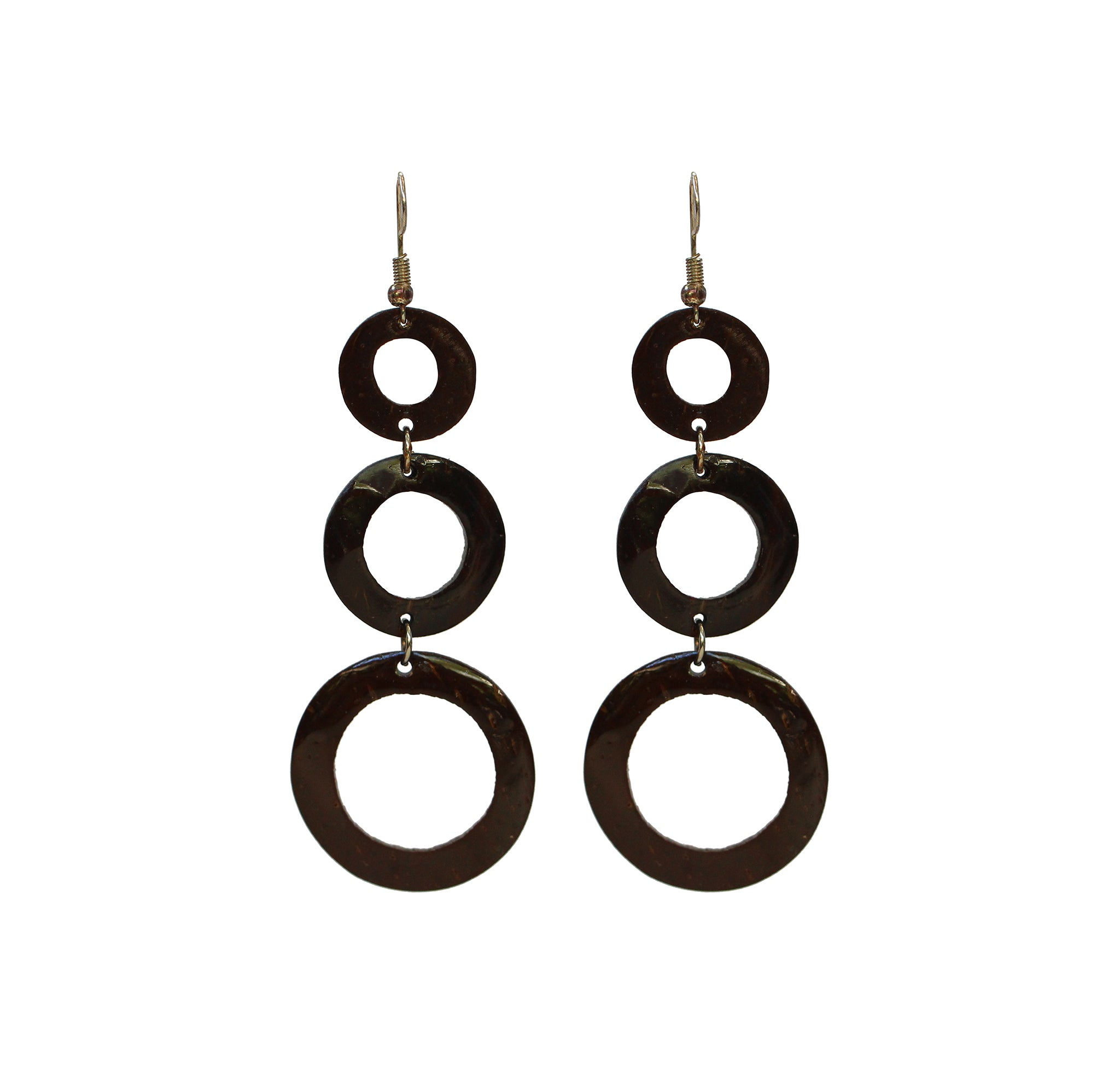 Coconut Earrings - Triple Tier Circle