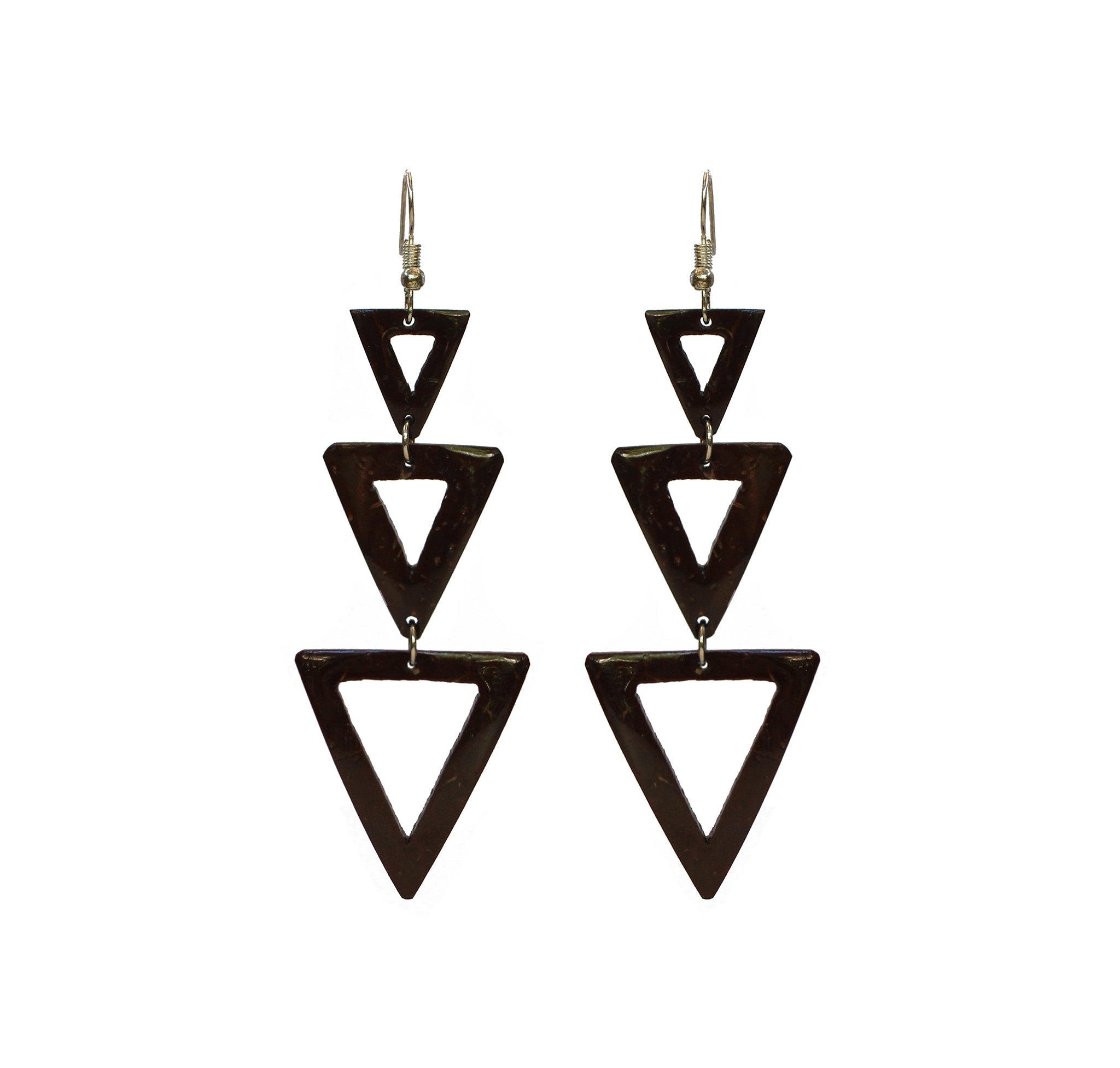 Coconut Earrings - Triple Tier Triangle