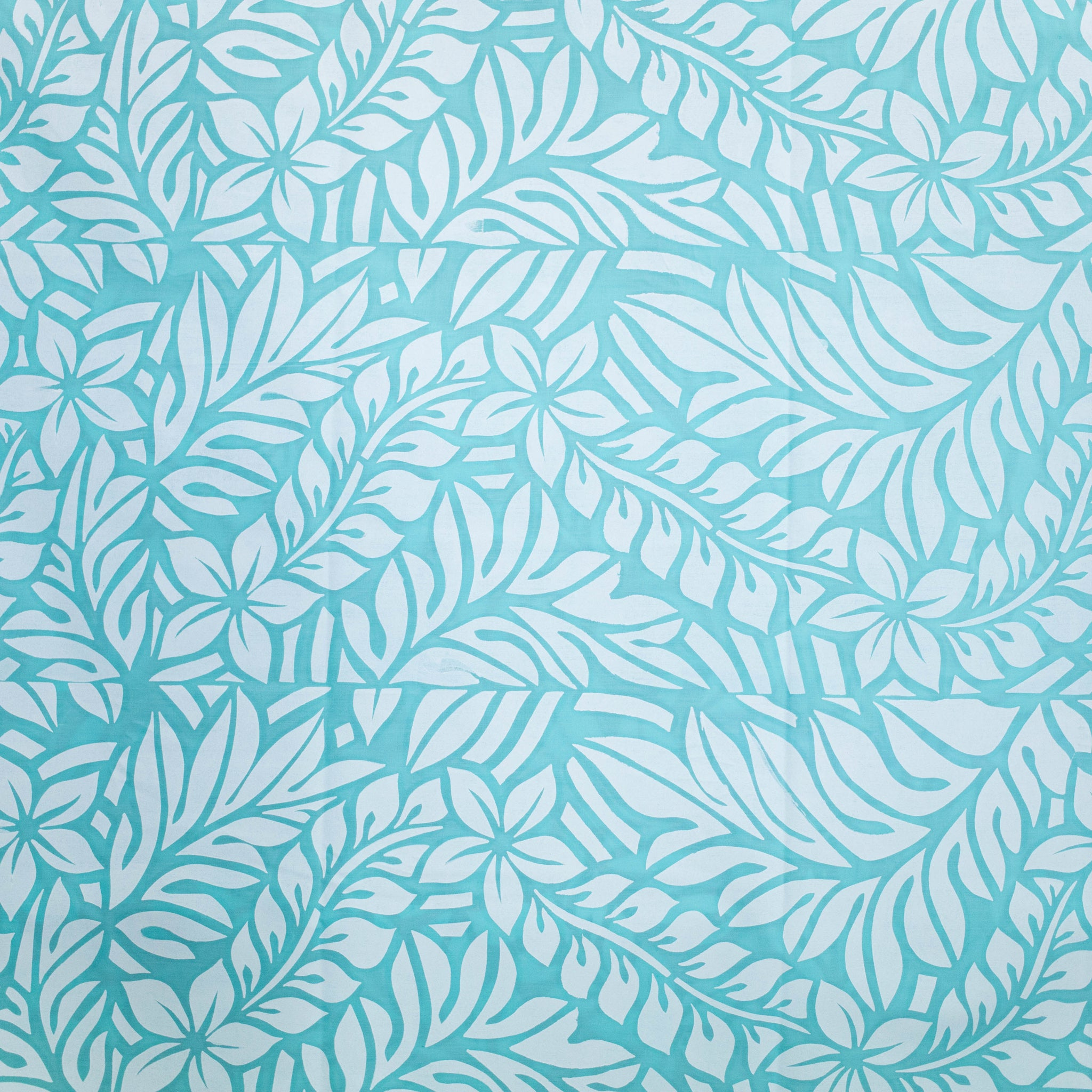 "Stretch Fabric ""Frangipani and Leaves"""