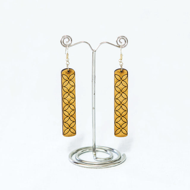 "Wooden Upeti Earrings ""Classic"""