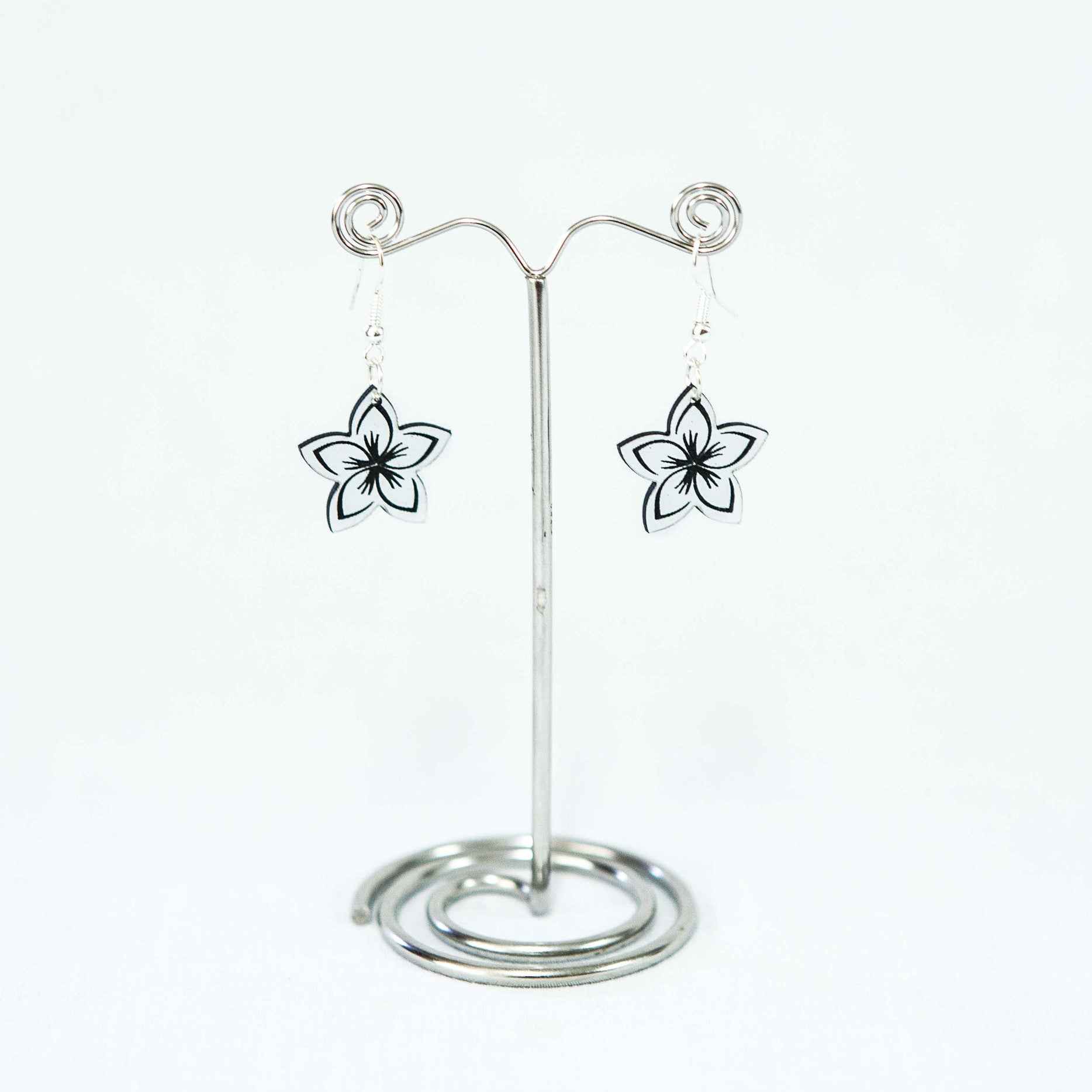 Metallic Frangipani Earrings