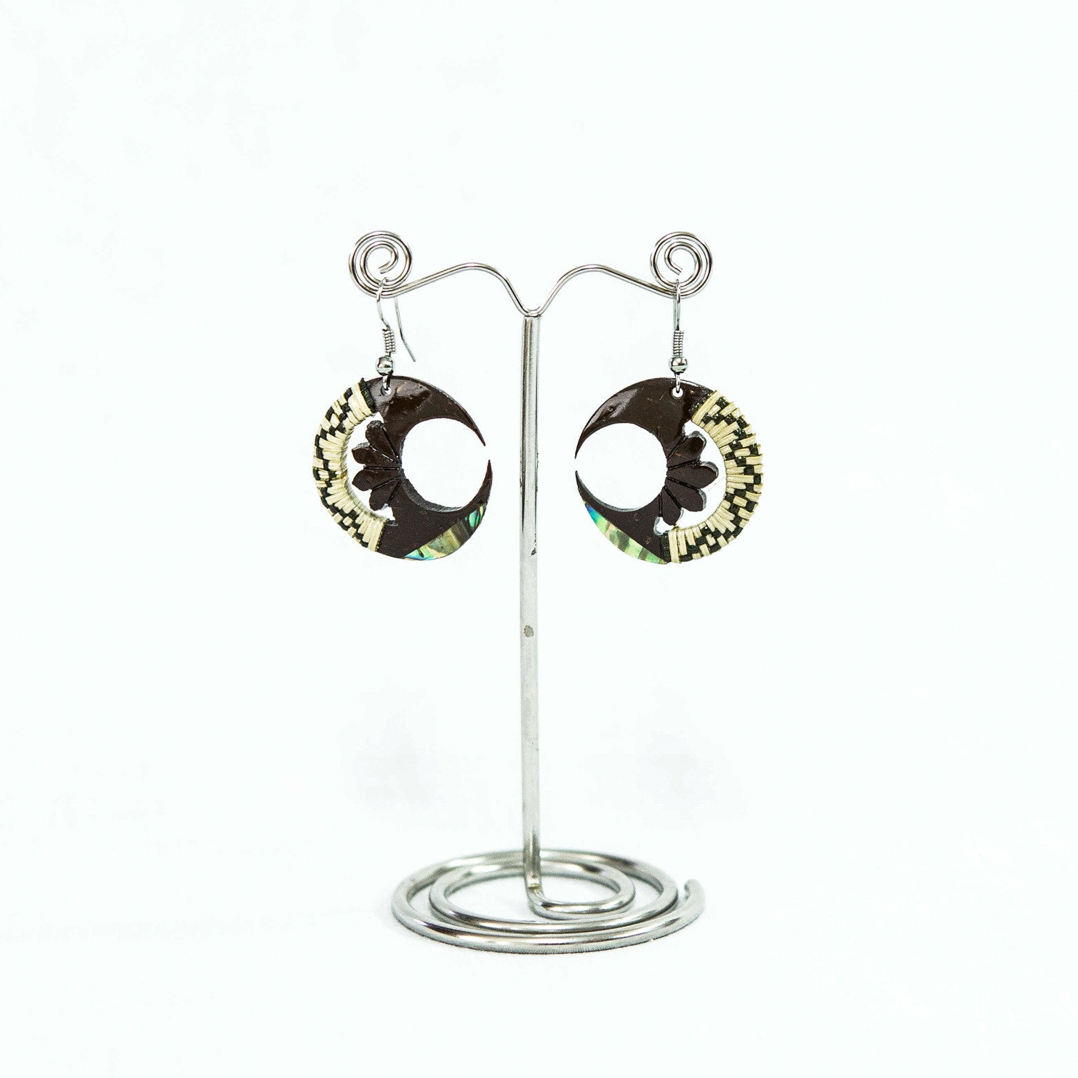 "Coconut Earring ""Half Moon"""