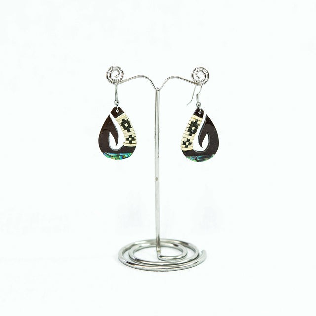 "Coconut Earring ""Fish Hook"""