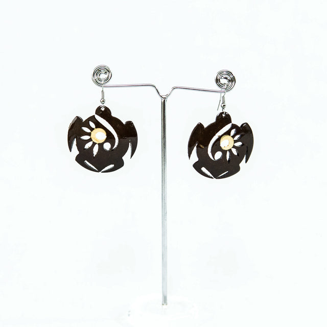 "Coconut Earring ""Coconut Turtle"""