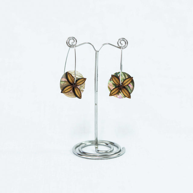 Siapo Flower & Paua Earrings
