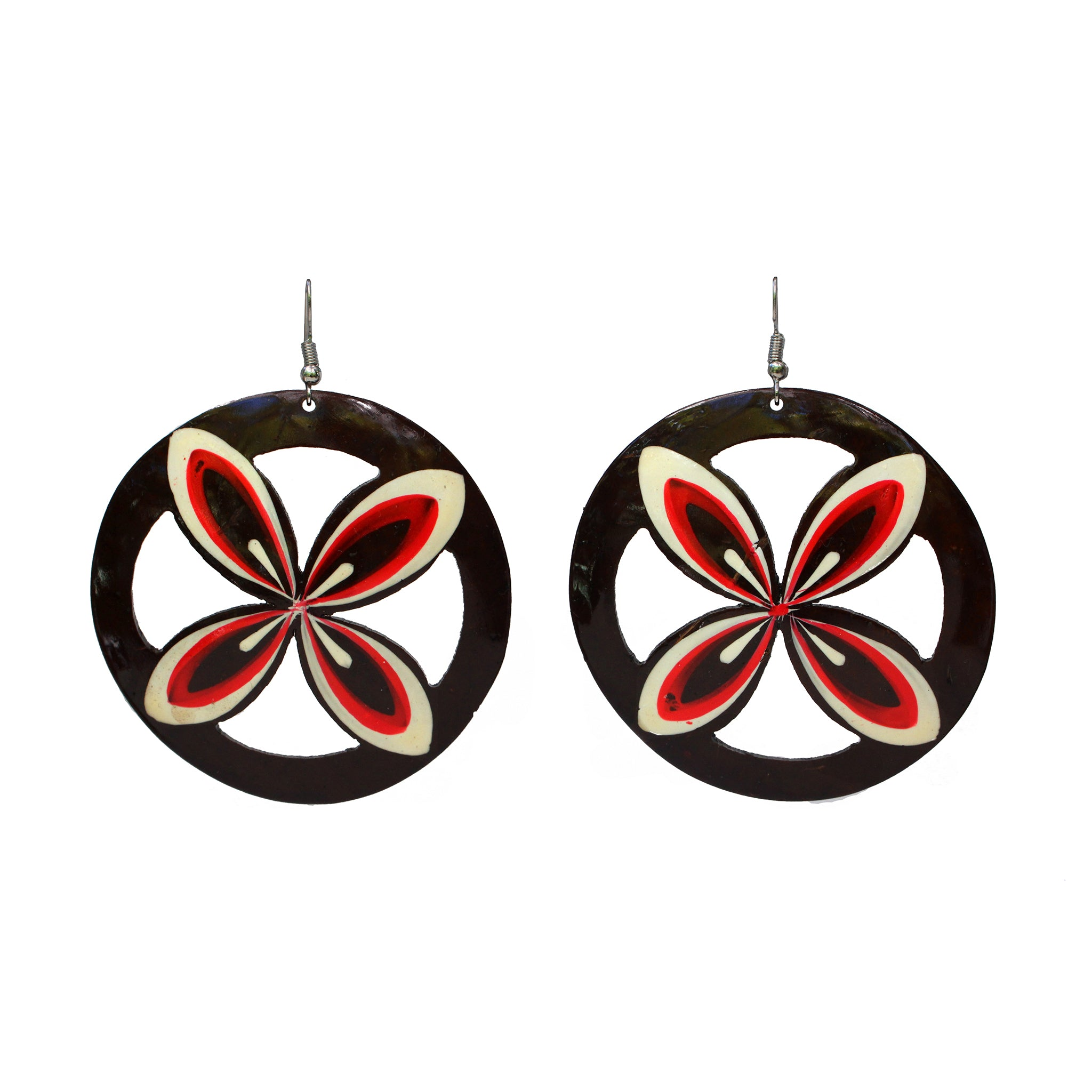Coconut Earrings - Tapa Hoop