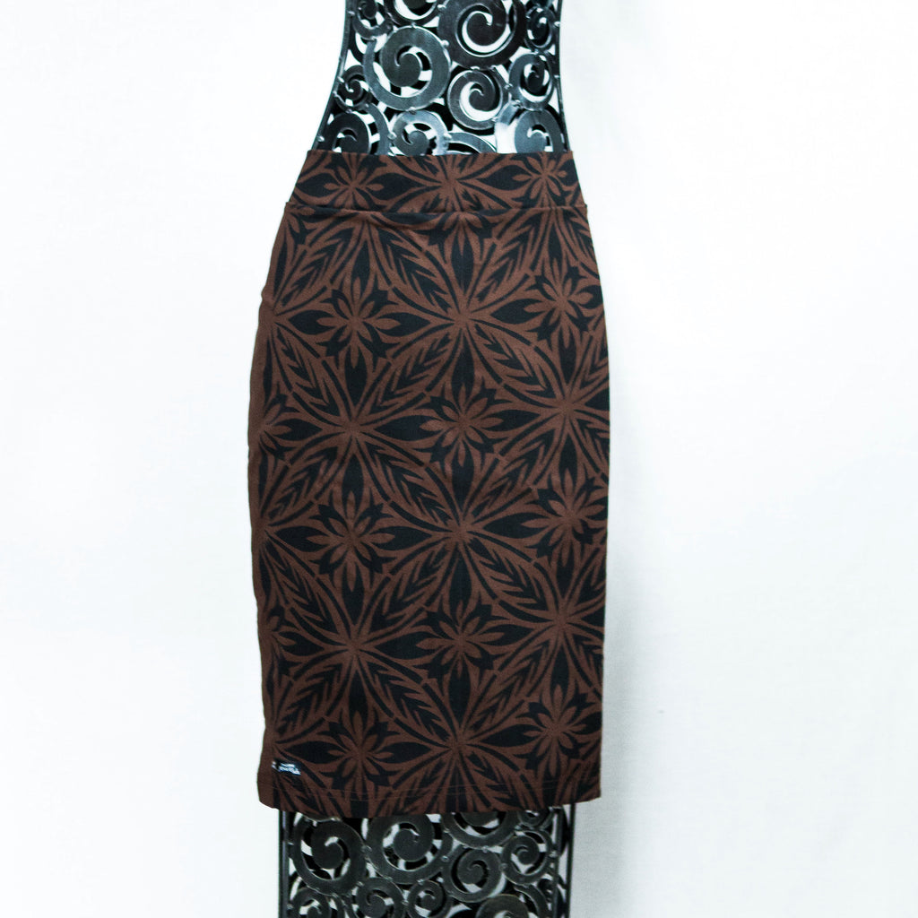 "Pencil Skirt ""Intricate Tapa"""