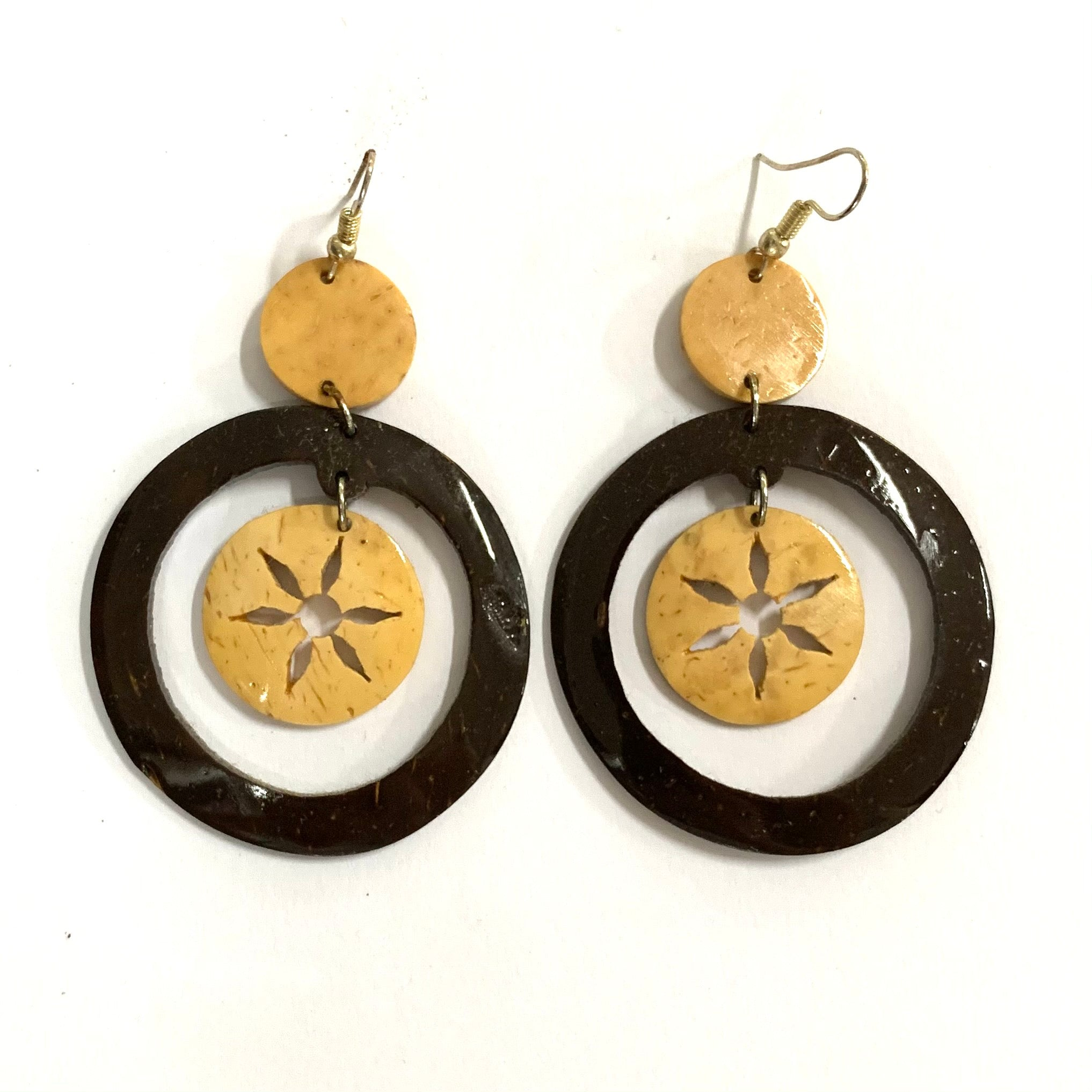 Coconut Earrings - Dangle Sun
