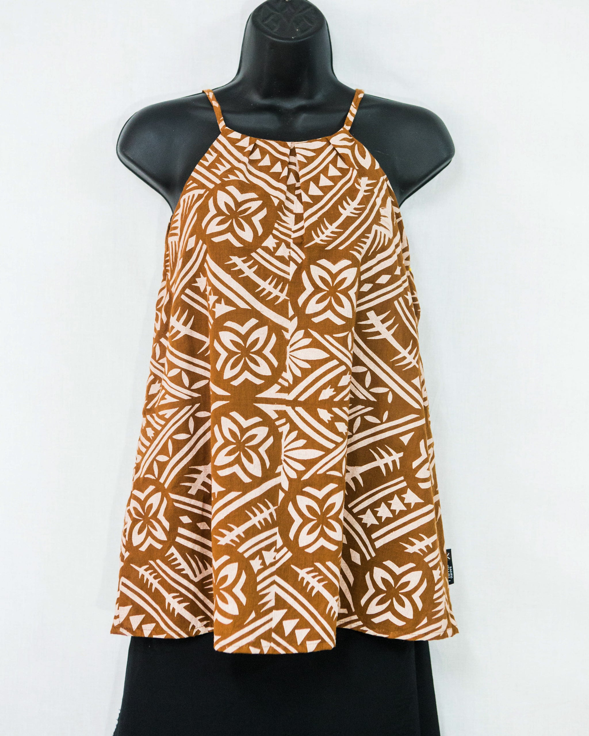 "High Neck Woman's Top ""Woven Circles"""