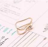 2 Pcs U-style No Hole Ear Cuff Clip on Earring - Sun