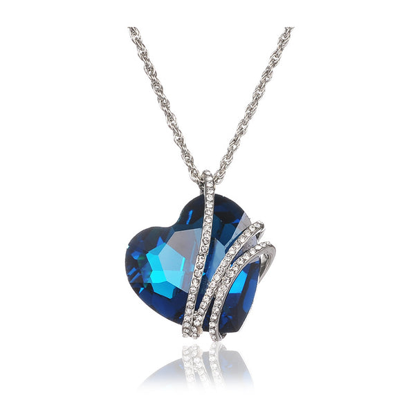 Luxury Crystal Titanic Heart Love Necklace