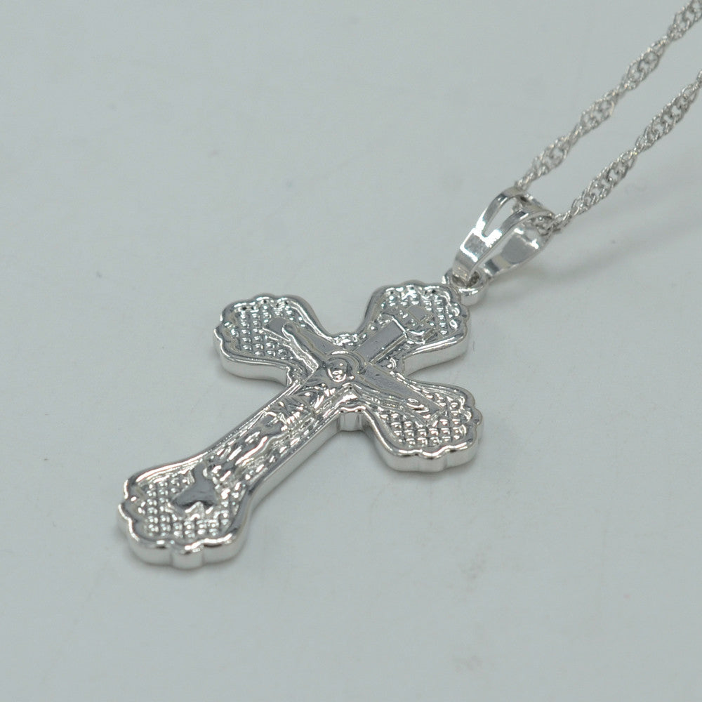 Cross silver jesus crucifix pendant necklace passionateabout mozeypictures Gallery