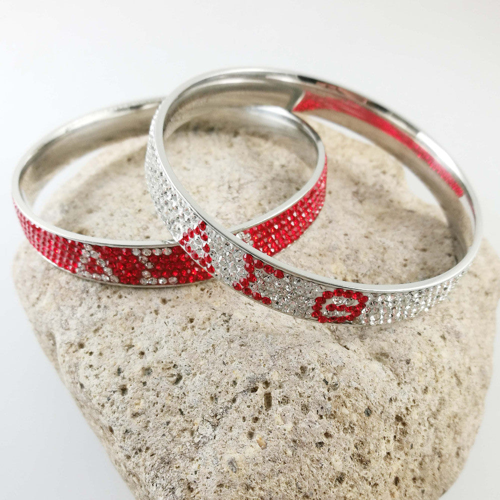 Delta sigma theta bracelet with dst symbols in red or crystal delta sigma theta bracelet with dst symbols in red or crystal rhinesto passionateabout buycottarizona Choice Image