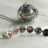 Angel Wing Expanding Photo Locket Necklace
