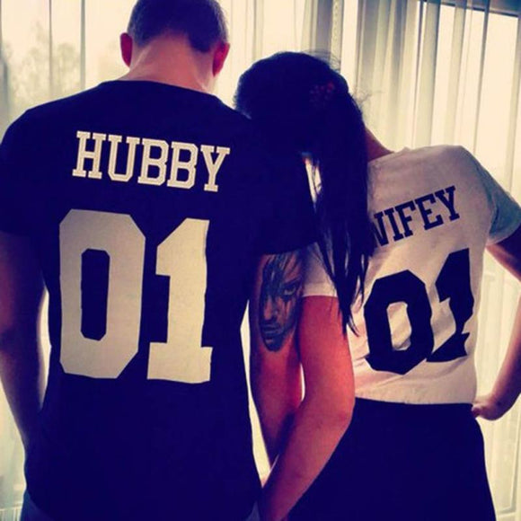 Hubby & Wifey Couples Tee