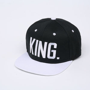 King & Queen Snapback Hats - Straight Up Fun