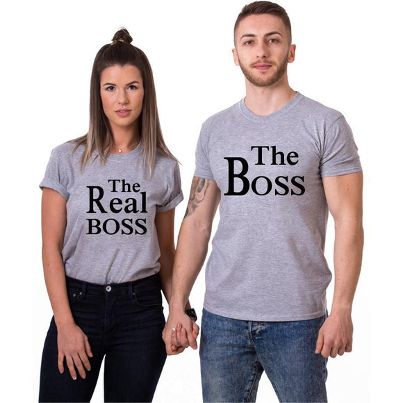 The Boss & The Real Boss Couple Tee - Straight Up Fun