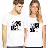Soul Mate Puzzle Matching Couples Tee