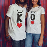 Crowned King & Queen Heart Matching Couples Tee