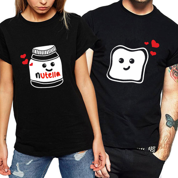 We Go Together Like Nutella & Toast Matching Couples Tee