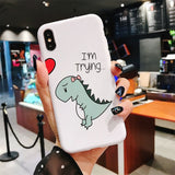 Cute Dino Hugging iPhone Case - Straight Up Fun