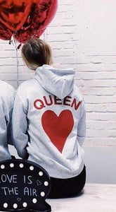 King & Queen Matching Couples Hoodie