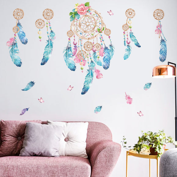Feathered Dream Catcher Wall Decal