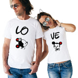 Minnie & Mickey Lo Ve Matching Couple Tees
